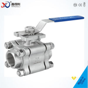 Factory 3PC Sw Ball Valve with Blow-out Proof Stem pictures & photos