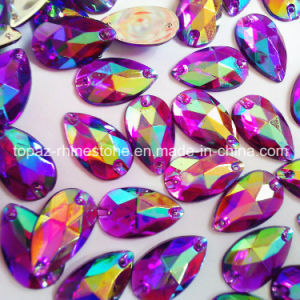 Sew on Loose Beads Crystal Purple Ab Color Rhinestone Accessories pictures & photos