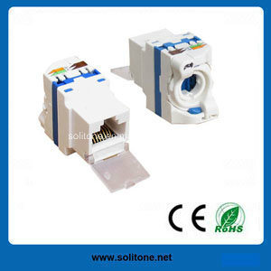 Unshielded CAT6 Keystone Jack, 180 Degrees, New Style pictures & photos