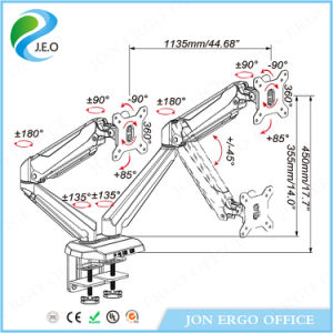 (JN-GM224U) Height Adjustable Computer Monitor Arm Dual Monitor Stand pictures & photos