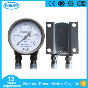 100mm Stainless Steel 0.25MPa Differential Pressure Gauge pictures & photos