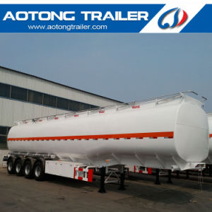 54-60 Cbm 6 Compartment Diesel Oil Fuel Tank Trailer with Lifting Axle pictures & photos