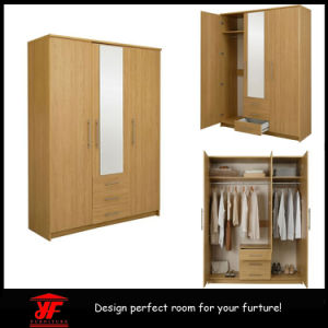 Wooden Home Living Room Furniture Bedroom Wall Wardrobe Design Simple Modern Luxury 3 Doors Wardrobe Closet
