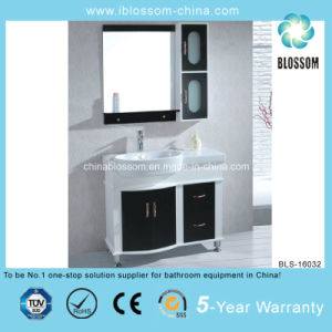 Popular PVC Board and Ceramic Basin Bathroom Vanity (BLS-16032) pictures & photos