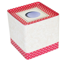 Squared Offset Printing Tissue Metal Box