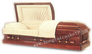 American Wood Casket of Solid Mahogany (HT-0409)