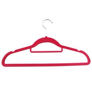 2015 Velvet Suit Plastic Notches Flocked Coat Top Hanger