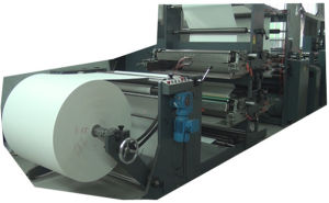 Full Automatic High Speed Flexo Printing and Saddle Stitch Staple Production Line for Exercise Book pictures & photos