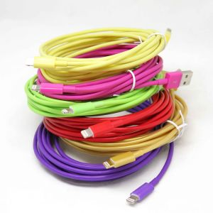Factory Color USD Cable Data Cable for iPhone 5