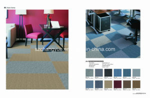 PP Office Carpet Tiles with PVC Backing pictures & photos