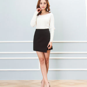 2016 Korean Women Spring Package Hip Skirt Pocket Wild High Waist Cotton Skirts pictures & photos