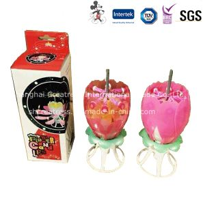 China Wholesale Flower Music Candle pictures & photos