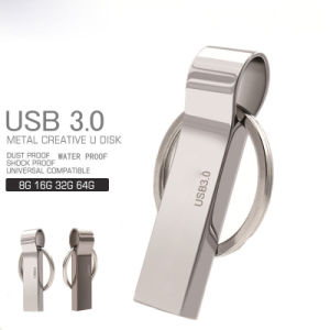 Waterproof USB 3.0 Flash Drive 8g 16g Pen Drive 32g 64G Memory Storage USB Stick Pendrive Key Ring USB Flash Drive pictures & photos