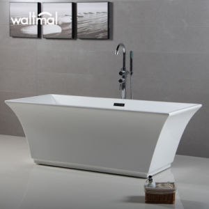 Tubzz Abzu Acrylic 67 in Rectangular Freestanding Bath Tub Supplier pictures & photos