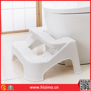 2017 New Design Adjustable Toilet Plastic Foot Stool pictures & photos