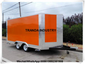 Fiber Glass Ice Cream Mobile Food Van Restaurant Carvan Car for Saudi Arabia Market pictures & photos