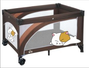 High Quality Folding Baby Bed Portable Travel Cot European Standard Baby Crib pictures & photos