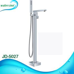 Watemark Wels Matte Black Floor Standing Bathtub Mixer with Shower pictures & photos