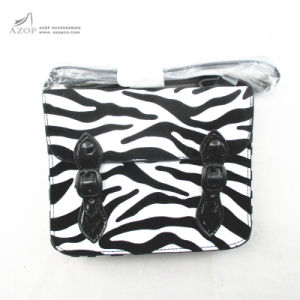 Zebra-Stripe Print Messenger Kids PU Bag pictures & photos