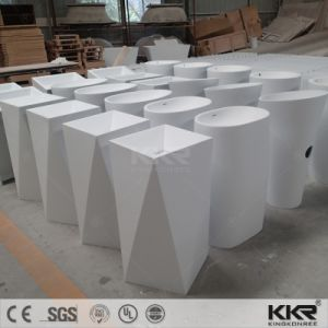 Acrylic Stone Solid Surface Pure White Washing Basin for Hotel pictures & photos
