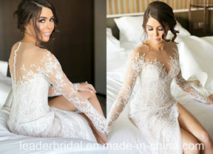 Lace Bridal Gowns Extra Train Buttons Back Wedding Dress M2017 pictures & photos