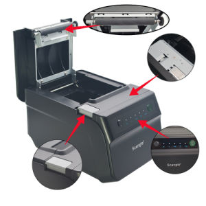 POS Restaurant 80mm Thermal Kitchen Receipt Printer, USB+Serial+Ethernet pictures & photos