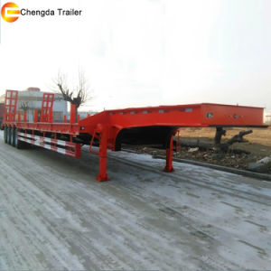 Utility 4 Axle 60-100tons Low Bed Lowbed Semi Trailer pictures & photos