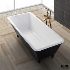 Luxury Acrylic Stone Resin Freestanding Black Bathtub pictures & photos