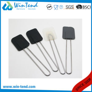 Hot Sale LFGB Certificate Silicone Spatula for Baking and BBQ with Wire Handle pictures & photos