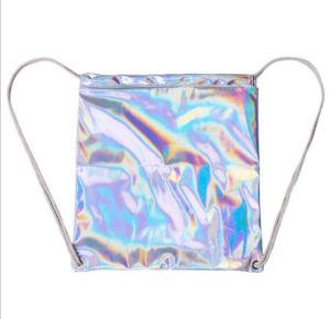 Silver Laser PU Drawstring Backpack, Seven Color Shading Laser Drawstring Bag pictures & photos