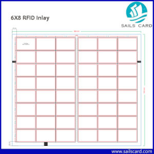 A4 Size 2 * 5 Layout Proximity Smart RFID ID Card Prelam Inlay pictures & photos