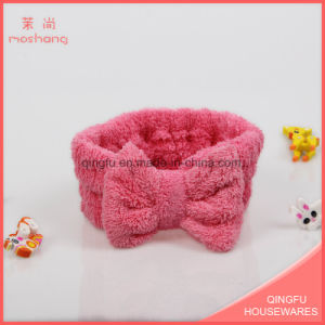 Microfiber Coral Fleece Make up Washing Face Headband pictures & photos