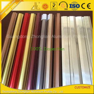 Custom Electrophoresis Anodized Champagne Aluminium Extrusion for Furnitures pictures & photos