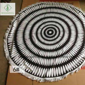 [Stock] Wholesale Qualified Microfiber Printed Round Beach Towel with Tassel pictures & photos