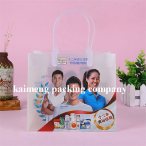 Top Quality UV Printed Clear Plastic Gift Bags Folding Design (plastic gift bags) pictures & photos
