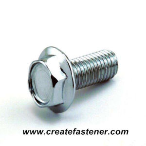 DIN 6921 Zinc Plated Hex Flange Bolt pictures & photos