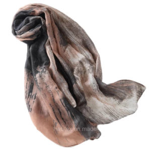 Hand Drawing Stylish Printed Polyester Women′s Scarf (HWBPS028) pictures & photos