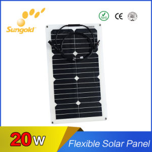 2017 Sungold Hot Sale Flexible Solar Panel 20W