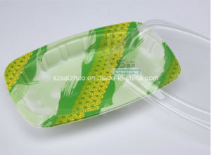550ml White Rice Noodle Disposable Plastic Food Box pictures & photos