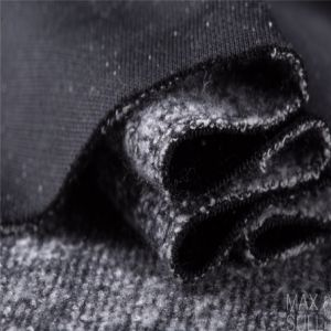 Mixed Wool Fabric with Double Sides in Black pictures & photos