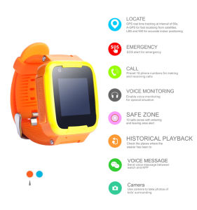 Google Map Mobile Tracking Watch GPS Tracker for Kids Children pictures & photos