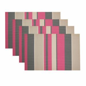 Stripes Promotional PVC Woven Placemat for Home & Restaurant pictures & photos