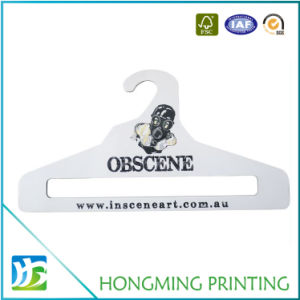 Cheap Logo Printed White Cardboard Suit Hanger pictures & photos