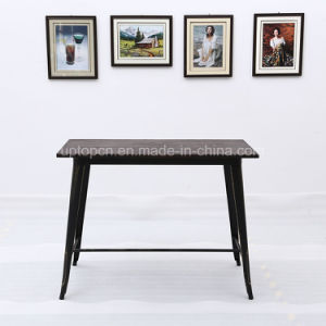Industrial Rectangle Wooden Top Table with Metal Leg (SP-BT712) pictures & photos