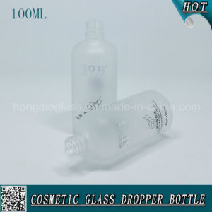 100ml Frosted Cosmetic Glass Dropper Bottle for Essential Oil pictures & photos