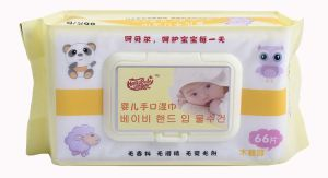 66PCS Nice Design Alcohol Free Antibacterial with a Cover Baby Wipe pictures & photos