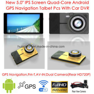 "5.0""854*480pixels IPS Capacitive Android 6.0 Car Tablet PCS with GPS Navigator, Dual Car Camera, 1080P Car DVR, Parking Camera Digital Video Recorder, WiFi pictures & photos"
