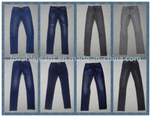 7.6oz Dark Red Jeans Forwomen (HYQ28RA2) pictures & photos