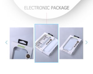 Custom Simple Handle Paper Cardboard Electronic Accessories Packing Box pictures & photos