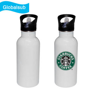 600ml Metal Drinking Bottle Stainless Suction Nozzle Bottle for Printing White pictures & photos
